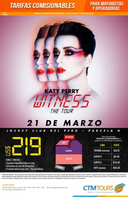 Katy Perry Witness the tours